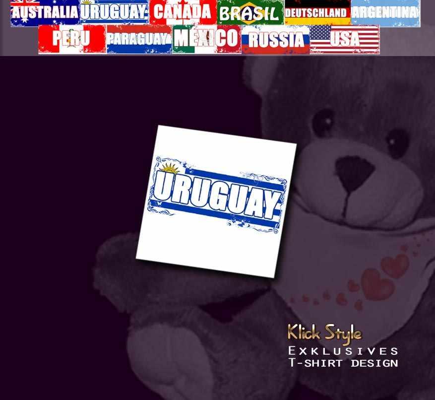 """Plüschtier - Teddy """"Flagge [Diverse Länder]"""" : Länder:Uruguay"""