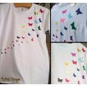 """NEU - Glitter/Hochglanz/Hologramm-Effekt - TShirt """"Schmetterlingsschwarm """""""