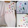 "NEU - NEW - NUEVO - Glitter/Hochglanz/Hologram-Effekt - TShirt ""Schmetterlingsschwarm"""