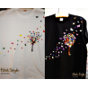 "NEU - Glitter/Hochglanz/Hologram-Effekt - TShirt ""Schmetterlingsbaum"""