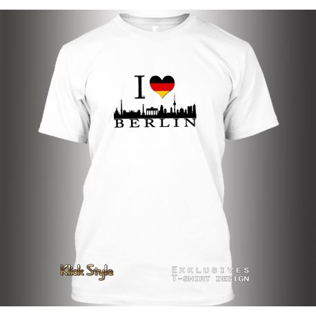 """T-Shirt """"Ich liebe Berlin"""" (auch: Stuttgart, München, Wiesbaden, Potsdam, Kiel, Erfurt, Leipzig, Düsseldorf)"""