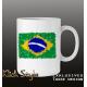 Tasse Splash-Karte Brasilien