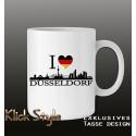 """Tasse """"Ich liebe Düsseldorf"""""""
