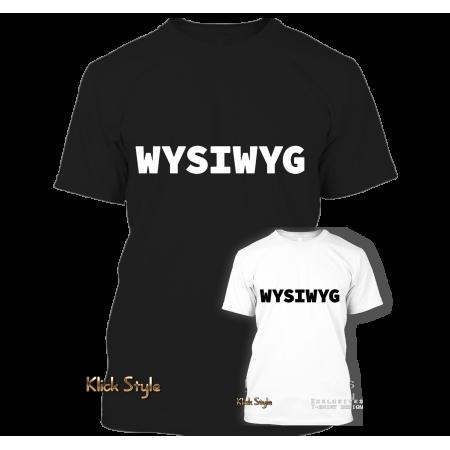 """T-Shirt """"WYSIWYG"""" (Weiß / Schwarz)"""