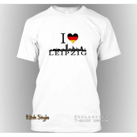 """T-Shirt """"Ich liebe Leipzig"""""""