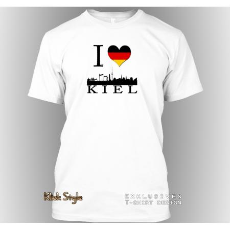 "T-Shirt ""Ich liebe Kiel"""