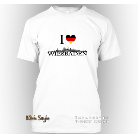 "T-Shirt ""Ich liebe Wiesbaden"""