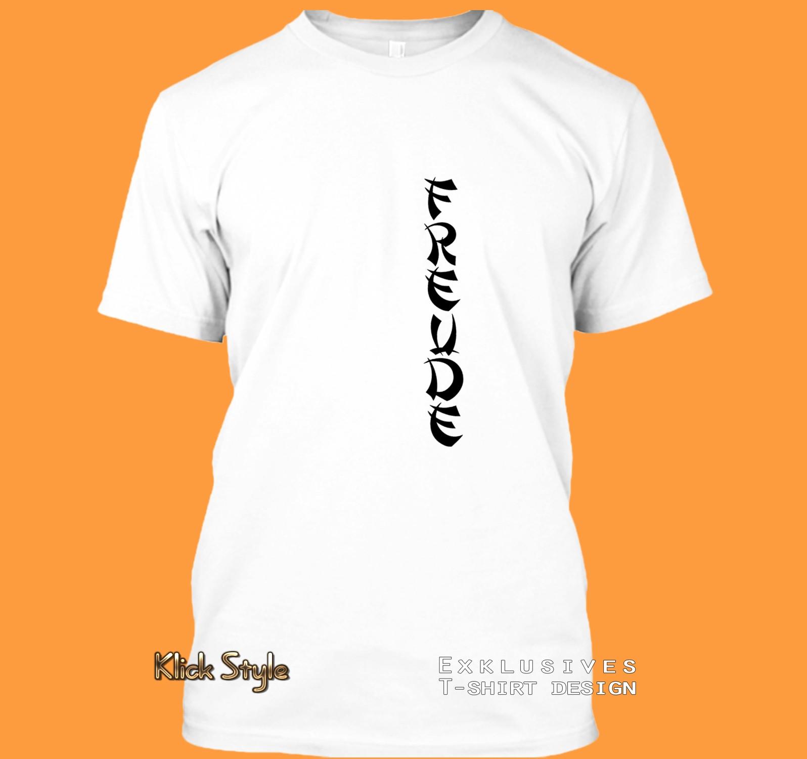 """T-Shirt Text """"Freude"""" / """"Liebe"""" / """"Hoffnung"""" / """"Leben"""" / """"Kraft"""" : Größe:XS, Text:Freude"""