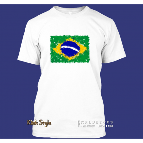 "T-Shirt ""Splash-Flag Brasilien"""