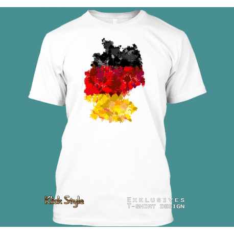 "T-Shirt ""Splash Karte Deutschland"""