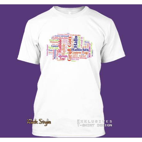 """T-Shirt Cloud """"Begrüßung DE"""""""