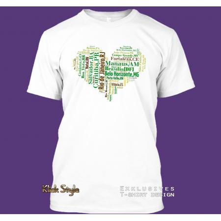 "T-Shirt Wordcloud ""Herz Hauptstädte Brasilien 2"" (größere Buchstab"