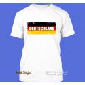"""T-Shirt Wort auf Flagge """"Deutschland"""" mit weißem Muster"""