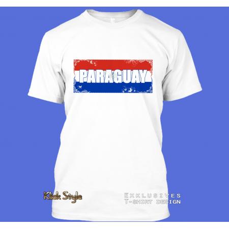 "T-Shirt Wort auf Flagge ""Paraguay"""
