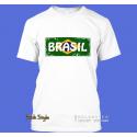 """T-Shirt Wort auf Flagge """"Brasil"""""""