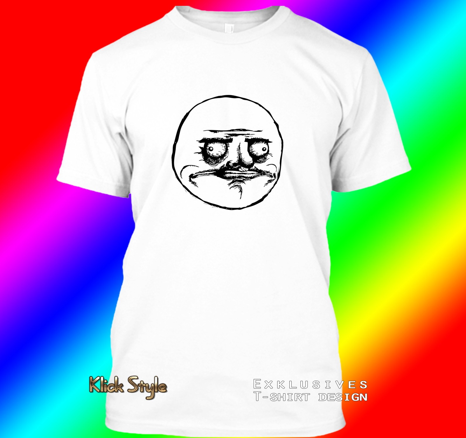 "T-Shirt ""Memes"" (Diverse Memes, weiß) : Größe:S, Motiv:Me gusta"