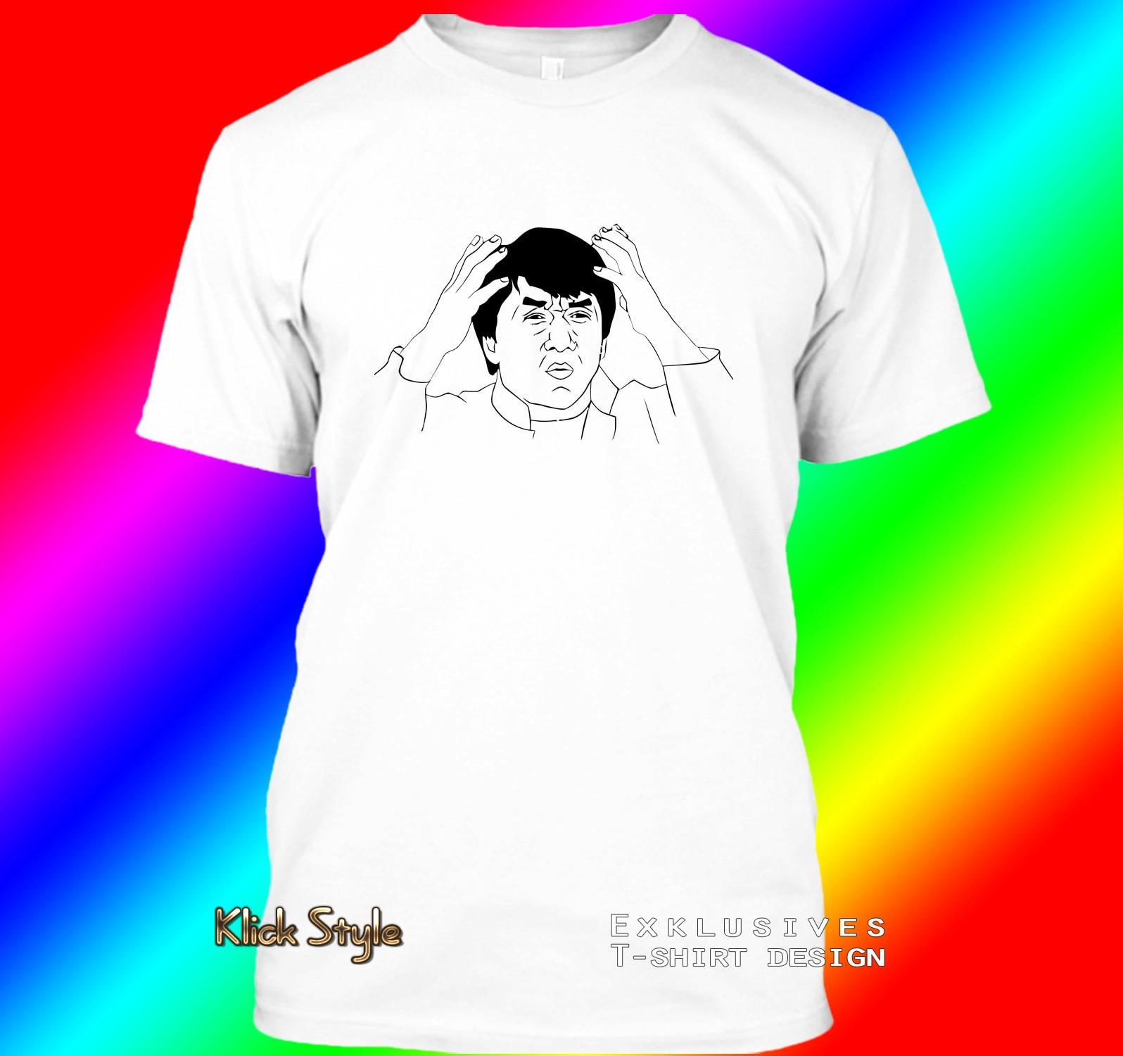 "T-Shirt ""Memes"" (Diverse Memes, weiß) : Größe:S, Motiv:Jackie"