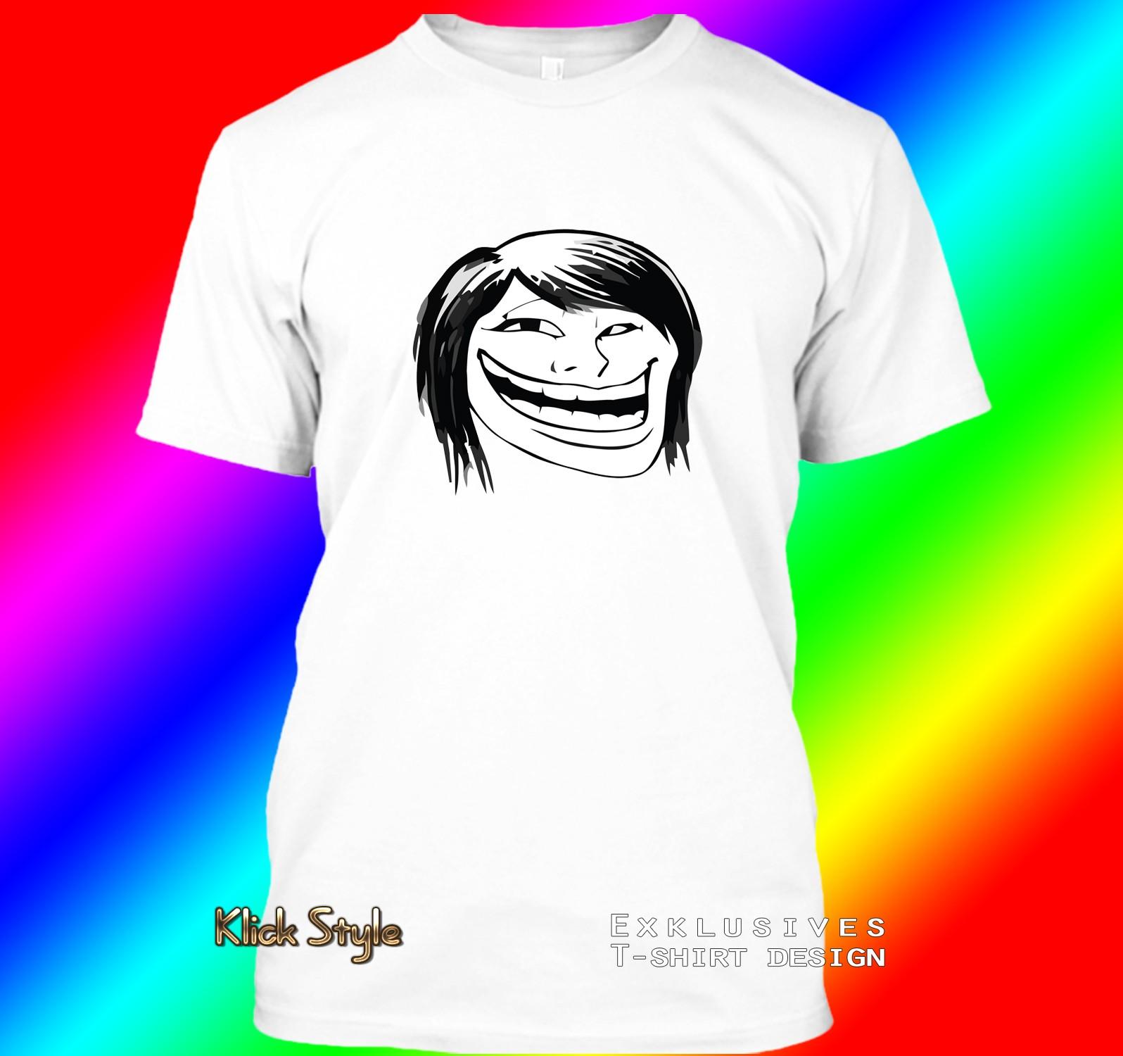 "T-Shirt ""Memes"" (Diverse Memes, weiß) : Größe:S, Motiv:Troll hot chic"