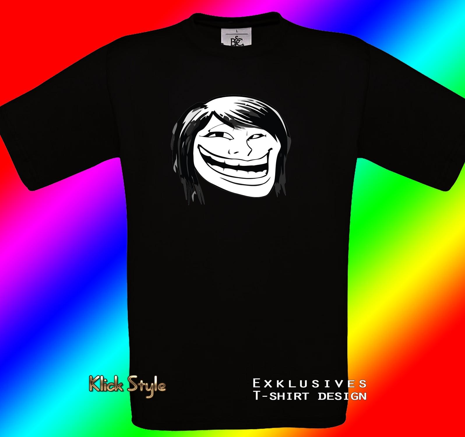 "T-Shirt ""Memes"" (Diverse Memes, schwarz) : Größe:S, Motiv:Troll hot chic"