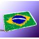 """Mousepad """"Splash-Flag Brasilien"""""""