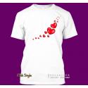 """T-Shirt """"Fliegende Herzen"""" (weiß)"""