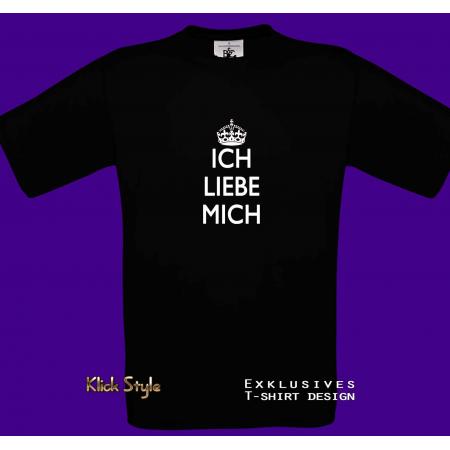 """T-Shirt """"Ich liebe mich"""" - schwarz"""