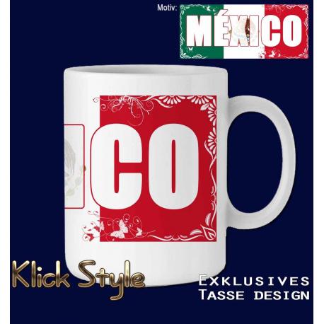 """Tasse Wort auf Flagge """"México"""""""