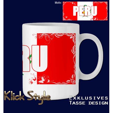"""Tasse Wort auf Flagge """"Peru"""""""