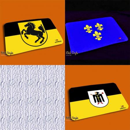 "Mousepad ""Ich Liebe (meine Hauptstadt)"" - Stadtflagge"