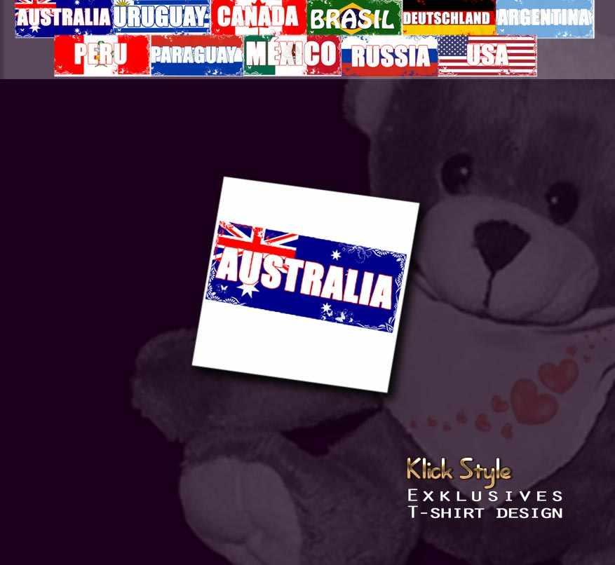 """Plüschtier - Teddy """"Flagge [Diverse Länder]"""" : Länder:Australia"""