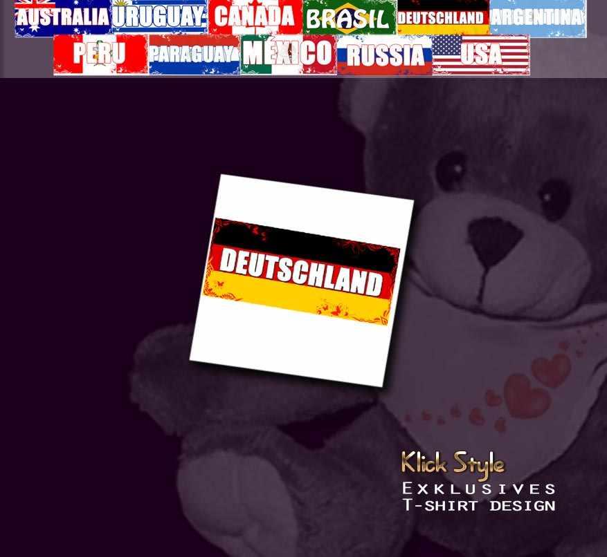 """Plüschtier - Teddy """"Flagge [Diverse Länder]"""" : Länder:Deutschland"""